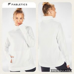 FABLETICS 'ZAYLEE' Funnel Neck Tunic, White Size M